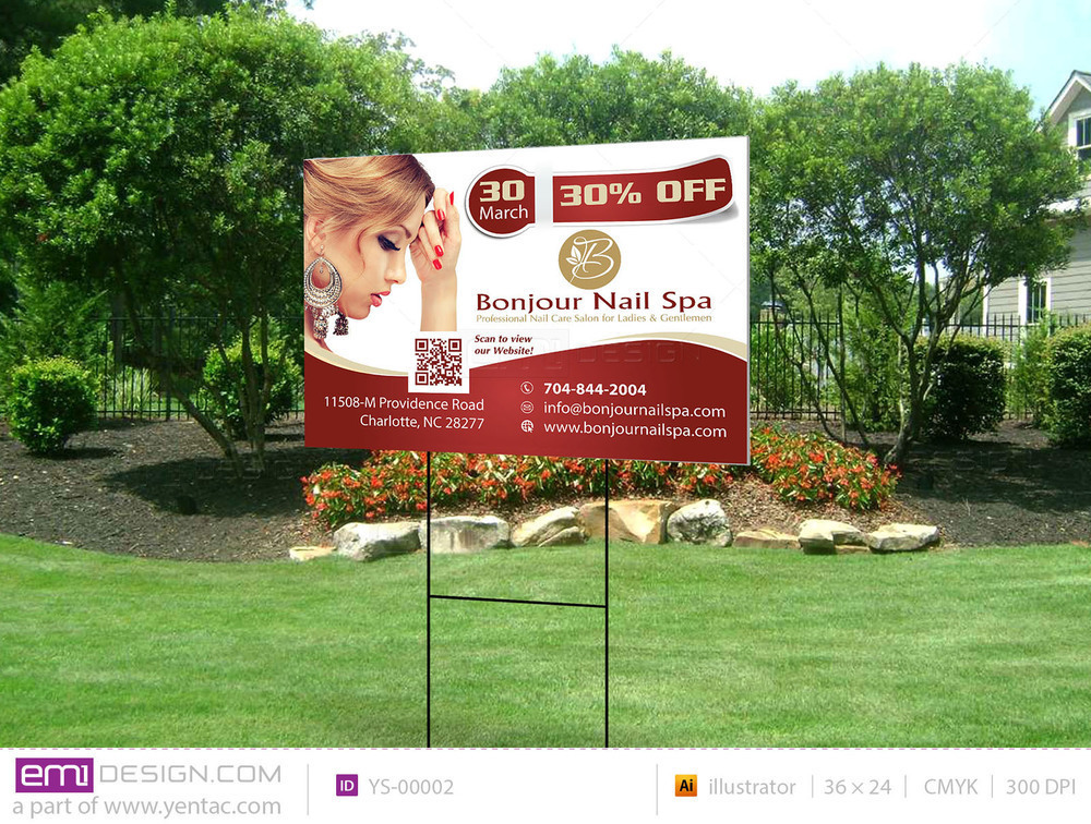 Yard Sign Template YS-00002