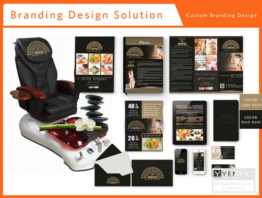 Beauty Custom Branding Package A - Nail Salon #5010 Revital Brand