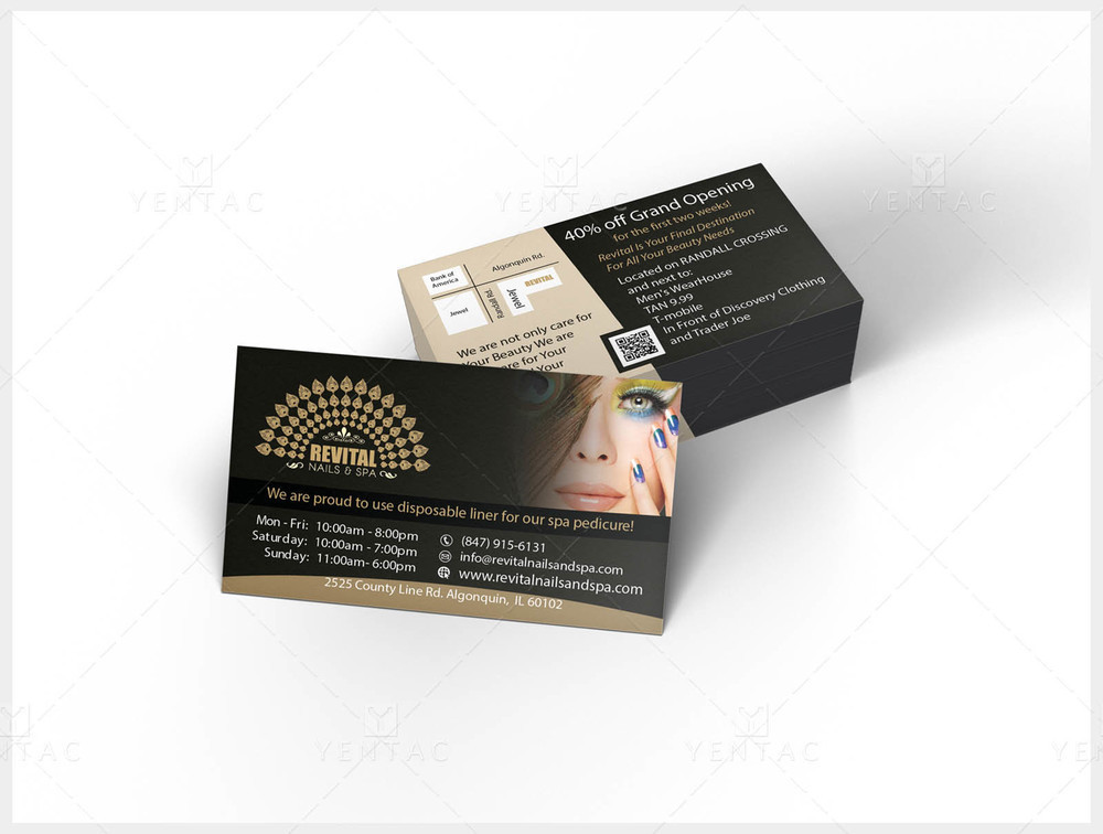 Business Card - Nail Salon #5010 Revital Brand