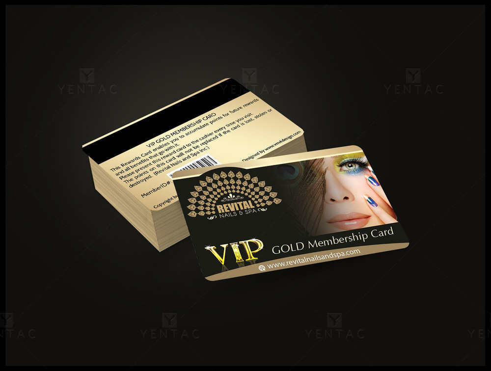 06 - Plastic VIP Card - Nail Salon #5010 Revital Brand