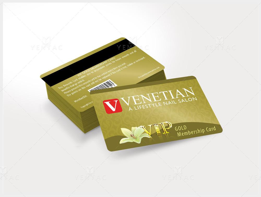 06 - Plastic VIP Card No Picture - Venetian Nails Spa #5051