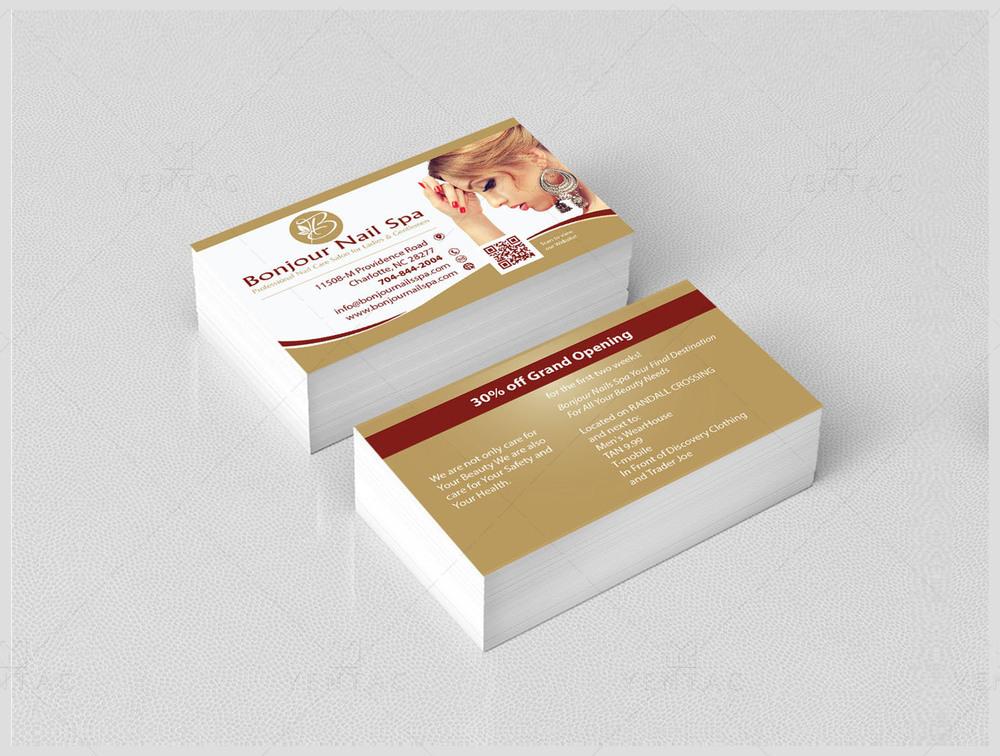 Business Card - Bonjour Nails Spa #5070 Salon