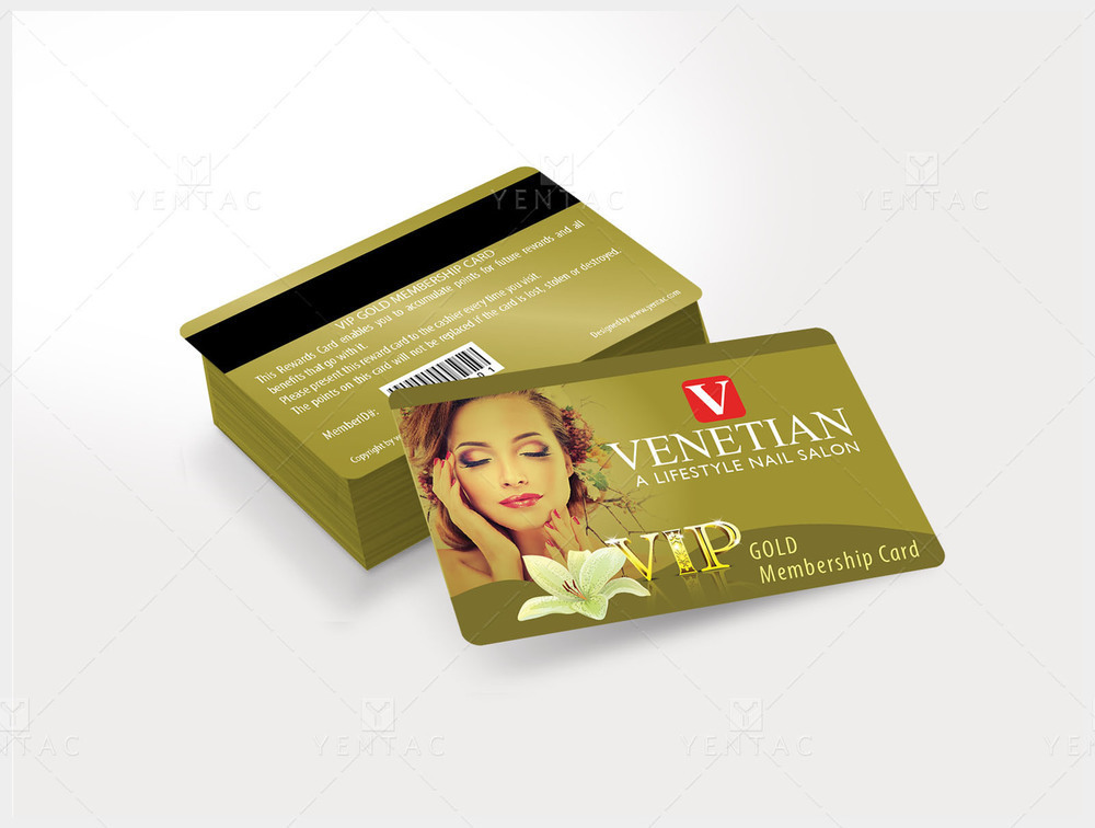 06 - Plastic VIP Card With Picture - Venetian Nails Spa #5051
