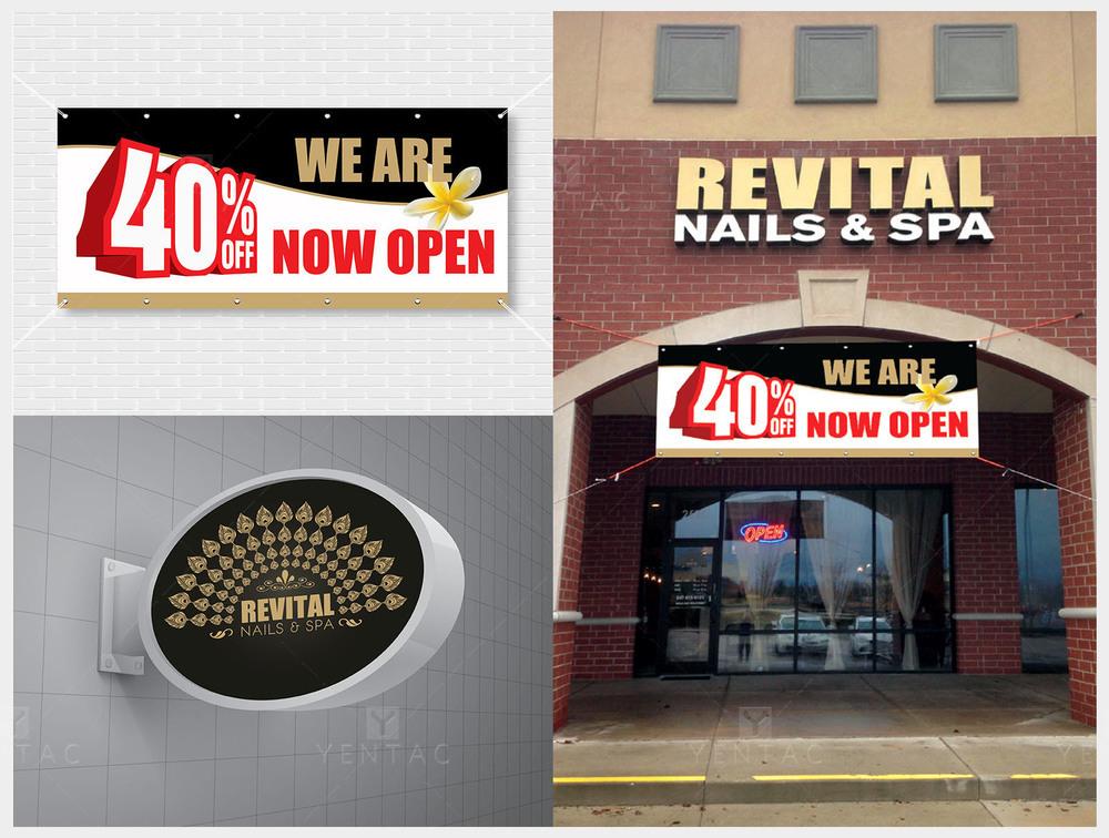 08 - Signage Solution - Nail Salon #5010 Revital Brand