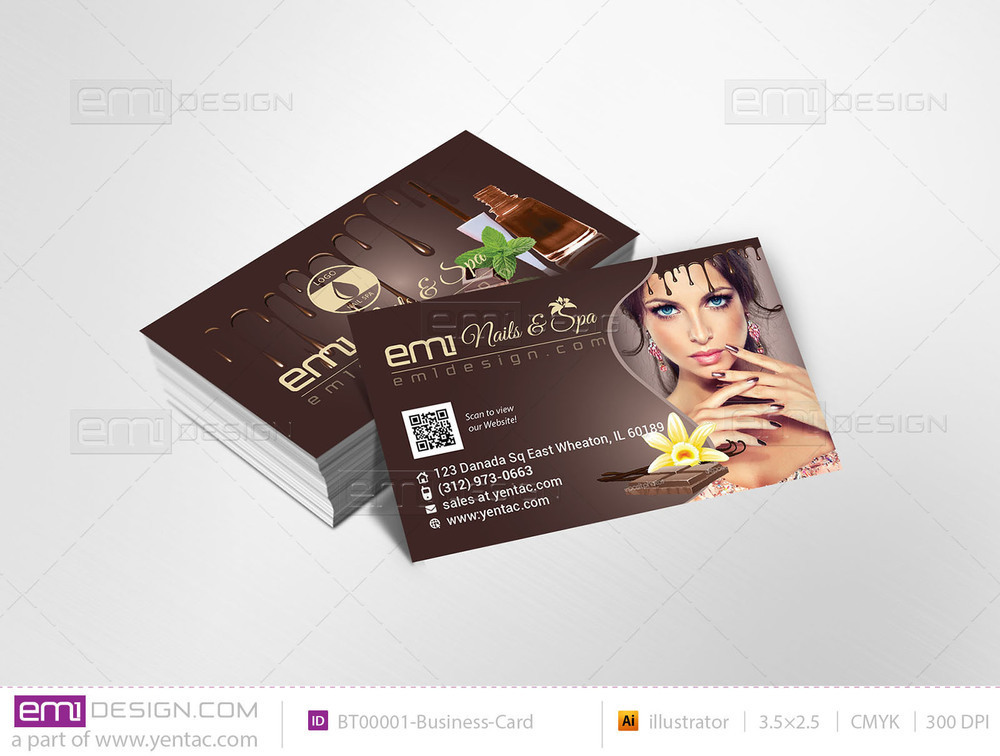Business-Card - Chocolate Brown Color Template #BT00001
