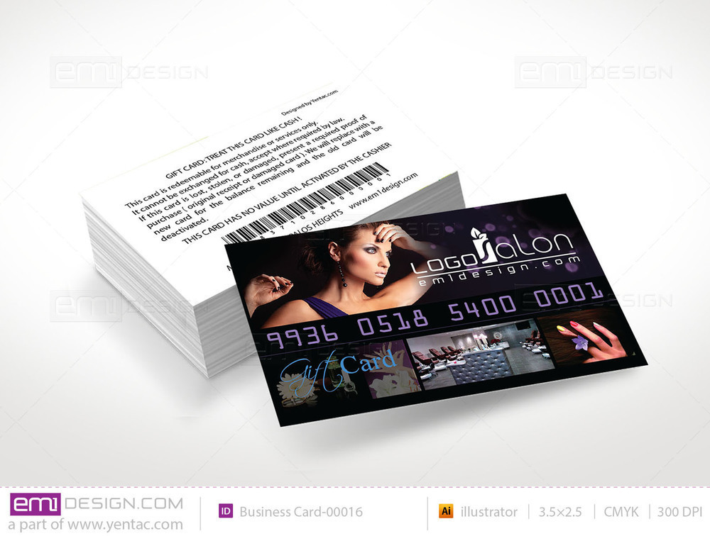 Plastic Gift Card Template - GCD-00016