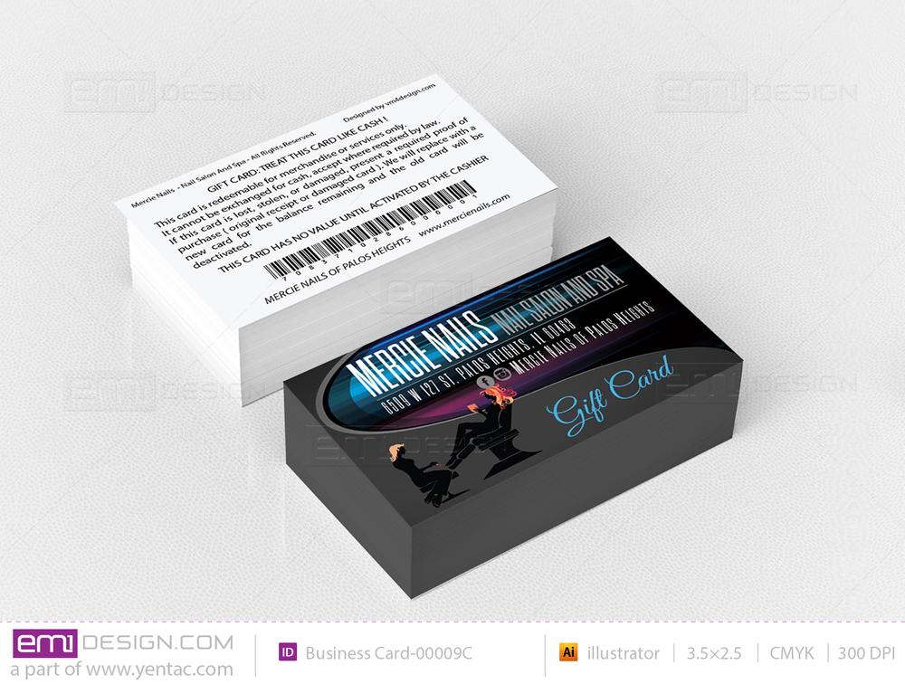Plastic Gift Card Templates - GCD-00001-C