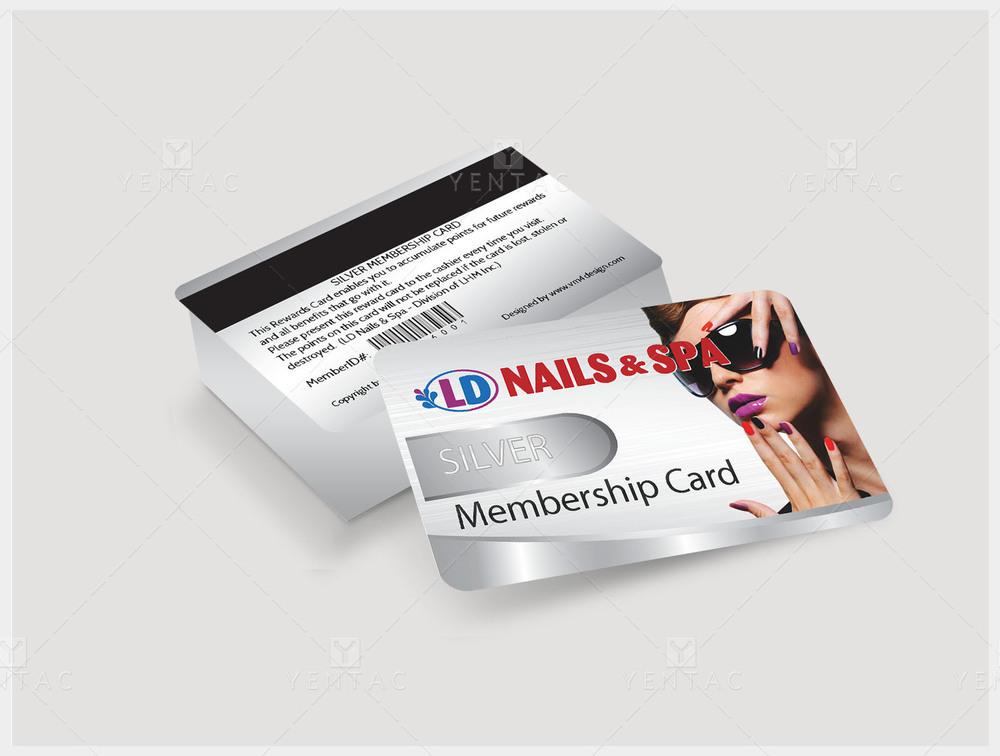 06 - Plastic Member Silver Card - Nail Salon #5117 LD Nail Store