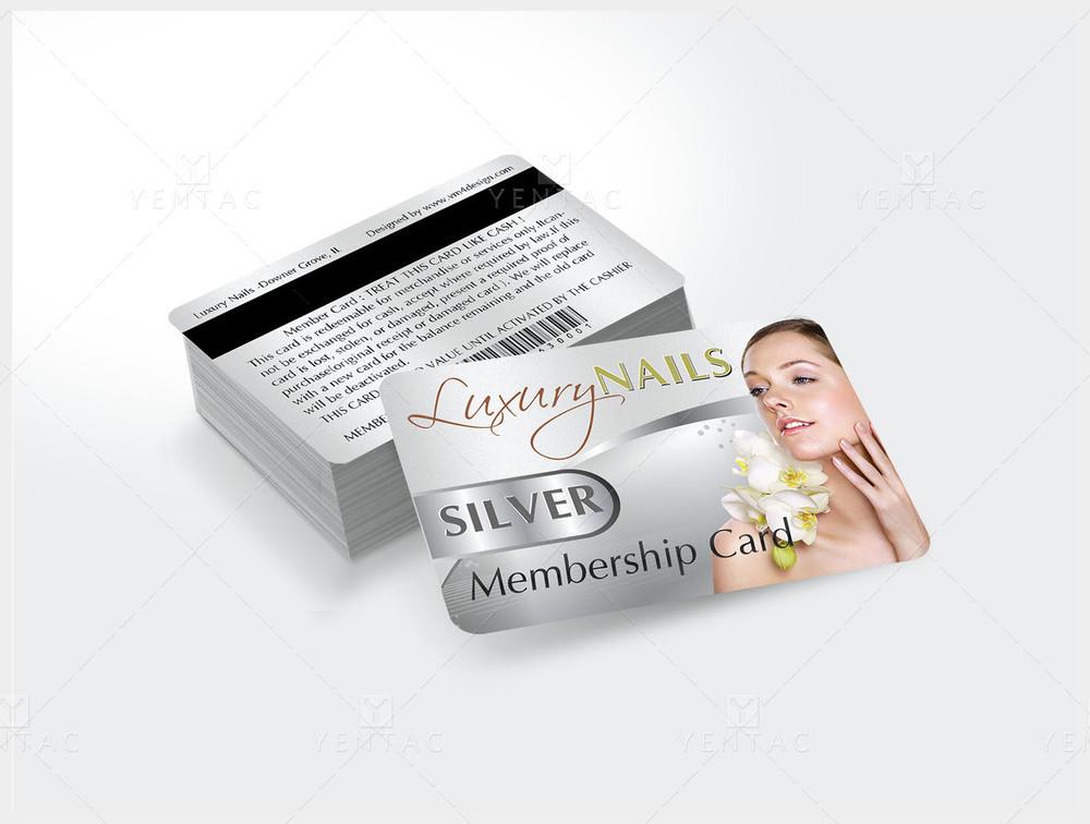 06 - Plastic Silver Membership Card - Luxury Nails Spa #0991 Salon