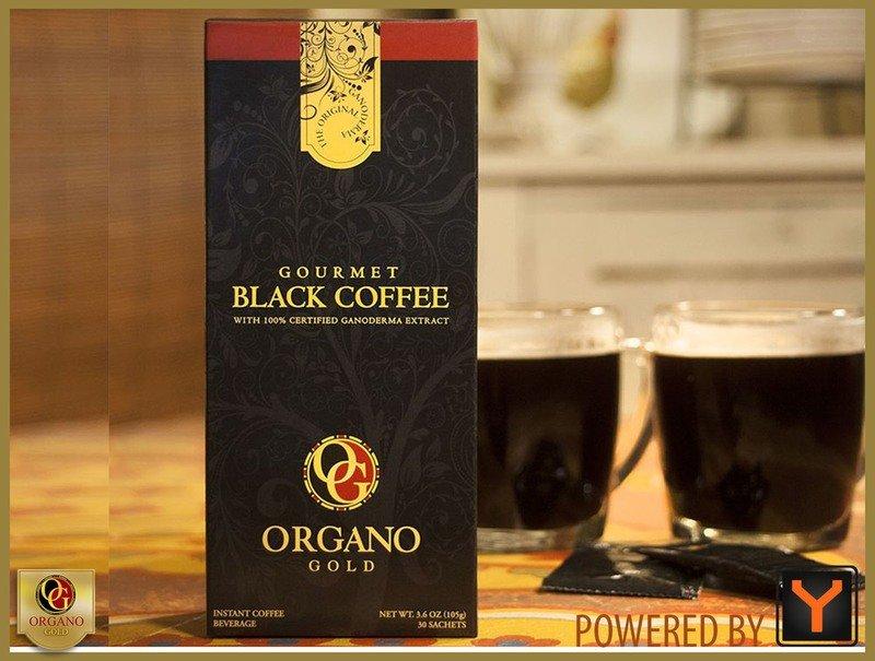 Gourmet Black Coffee Enhanced with Ganoderma Lucidum