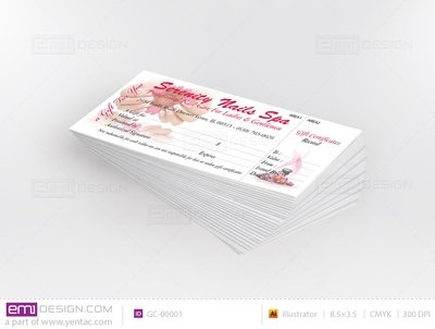 Gift Certificate Template GC-00001