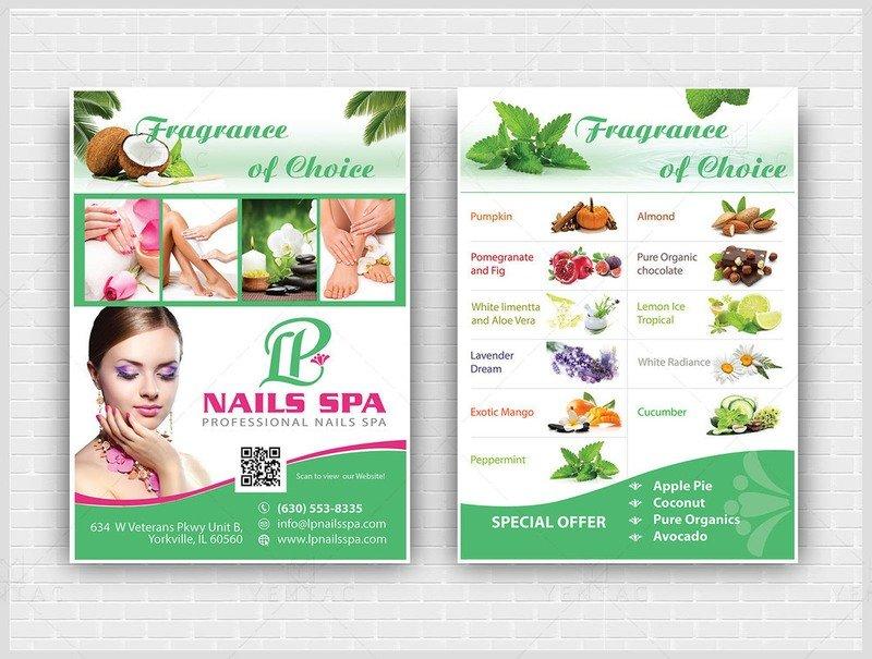 10 - Promotion - Laminate Flyer - LP Nails Spa #5069 Salon