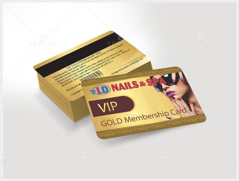 06 - Plastic VIP Gold Card - Nail Salon #5117 LD Brand