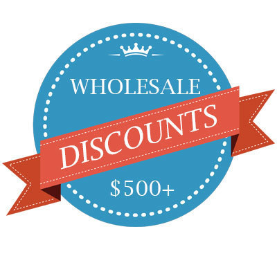 Flexible individual discounts to $500+ orders