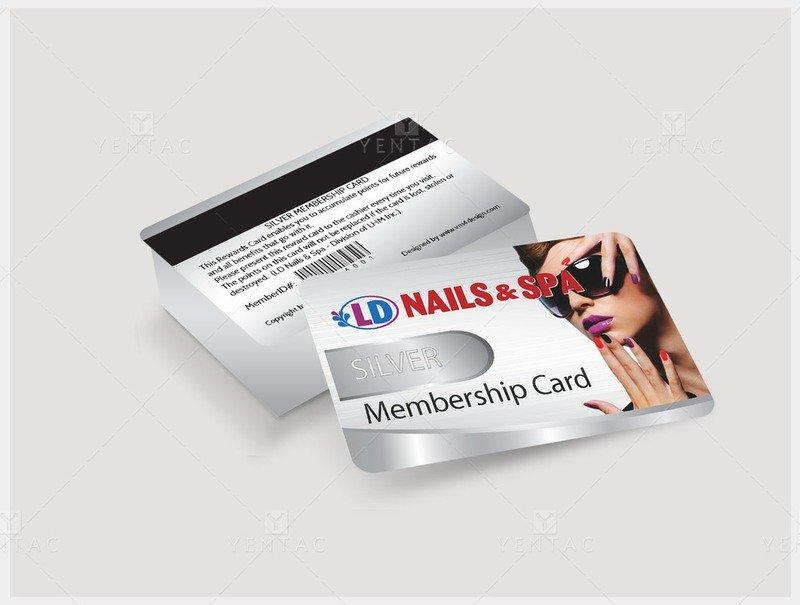 06 - Plastic Member Silver Card - Nail Salon #5117 LD Brand