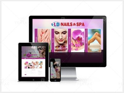 101 - Web Design Solution - Nail Salon #5117 LD Brand