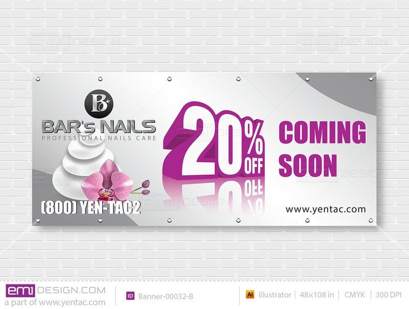 Outdoor Banner - Size 4x9 No Picture Template: 00032-B