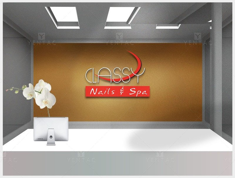 01 - Logo Design -  Nail Salon #0990 Classy Brand