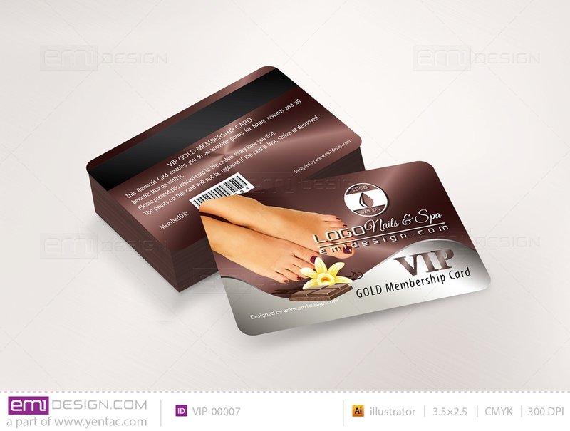 Plastic VIP Card Template- VIP-00007