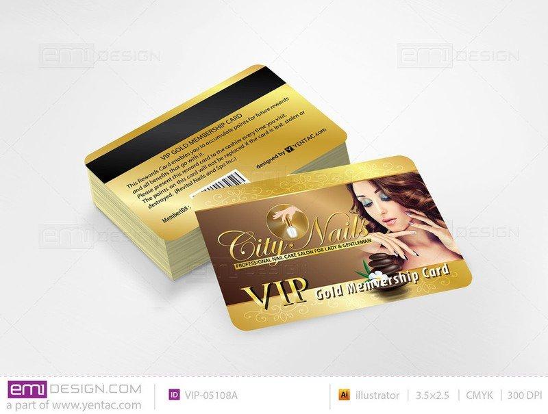 Plastic VIP Card Template- VIP-05108A
