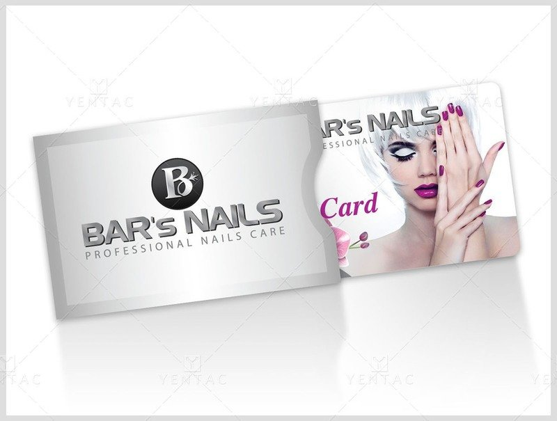 Plastic Gift Card Sleeve - Silver Color Template:  00032