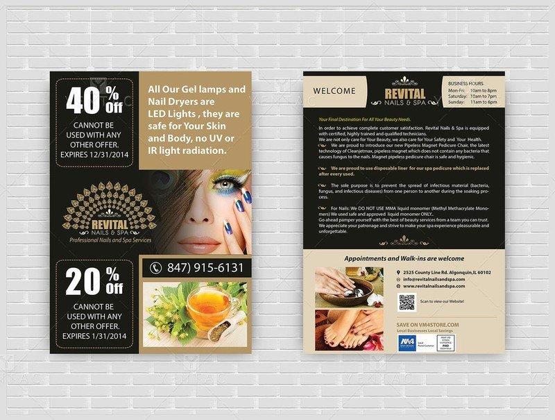 10 - Promotions - Flyers - Nail Salon #5010 Revital Brand