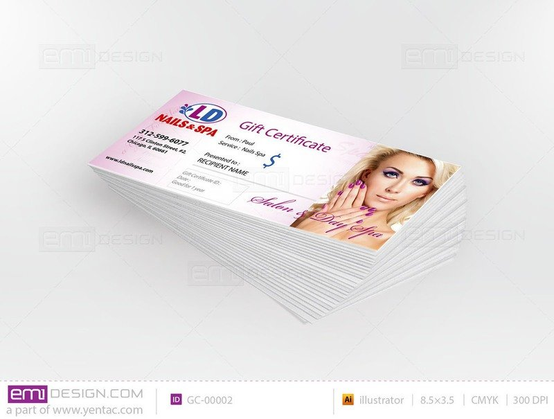 Gift Certificate Template GC-00002