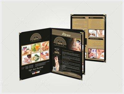 Menu Book Size 8.5x11 - Nail Salon #5010 Revital Brand