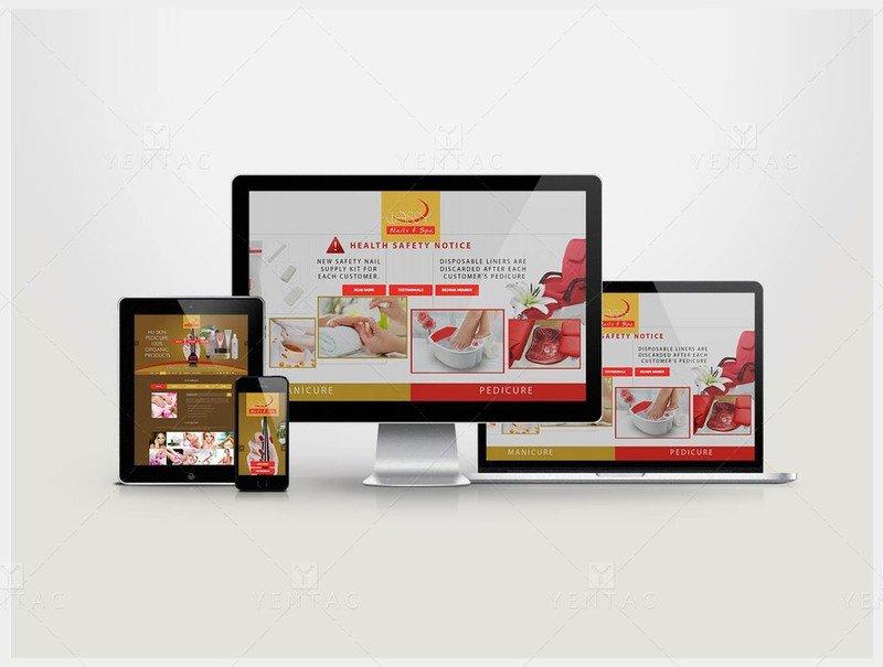 101 - Web Design Solution - Nail Salon #0990 Classy Brand
