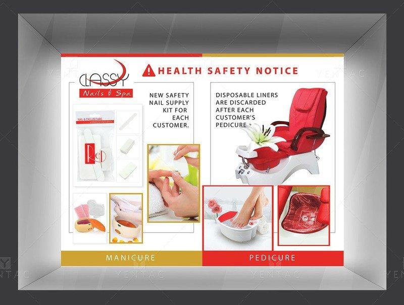 05 - Posters - Nail Salon #0990 Classy Brand