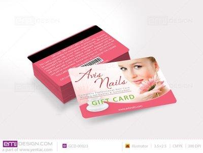 Plastic Gift Card Template- GCD-00023