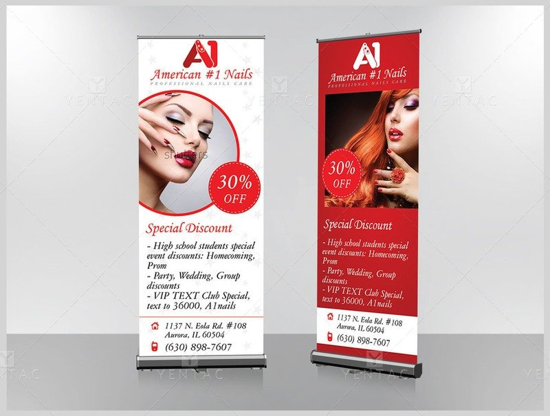 05 - Retractable Banner - A1 Nails Spa #1001