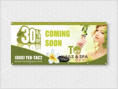 Outdoor Banner - With Picture - Size 48x108 Inches - ID:  3011