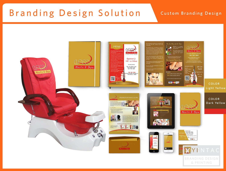 Branding Custom Branding Package A - Nail Salon #0990 Classy Brand