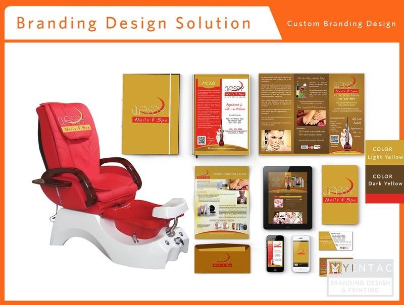 00 - Branding Custom Branding Package A - Nail Salon #0990 Classy Brand