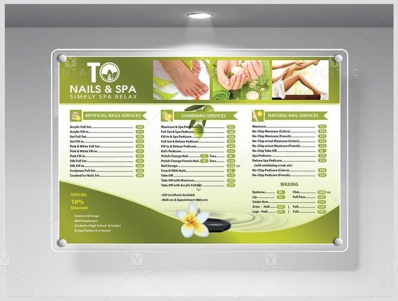 Price List Custom Design & Printing - TO Brand Franchise #3011