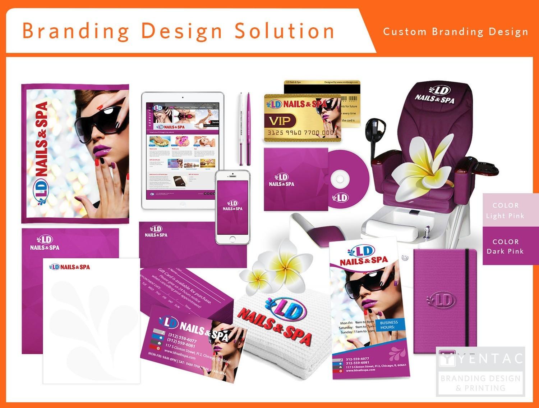 Branding Custom Branding Stationary Package A Nail Salon - #5117 LD Brand