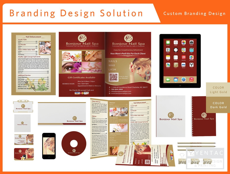 00 - Beauty Custom Branding Package A - Bonjour Nails Spa #5070 Salon Stationary