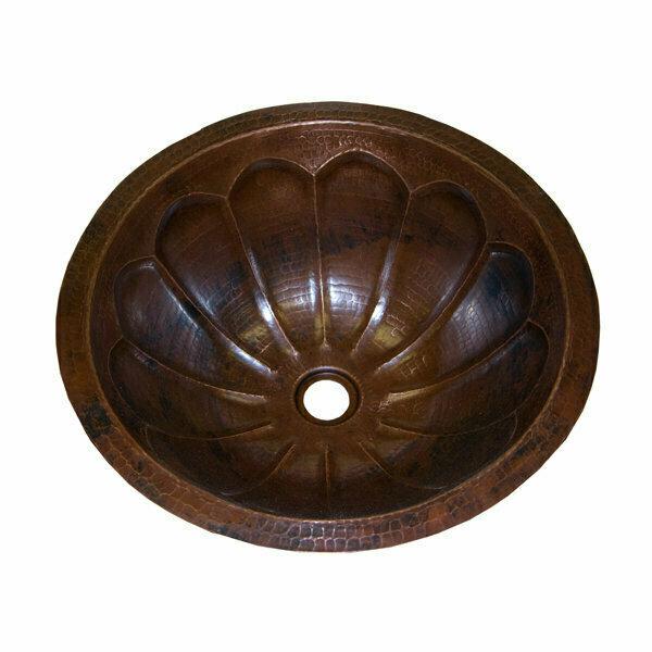16 Gauge Round Copper Sink w/Fluting