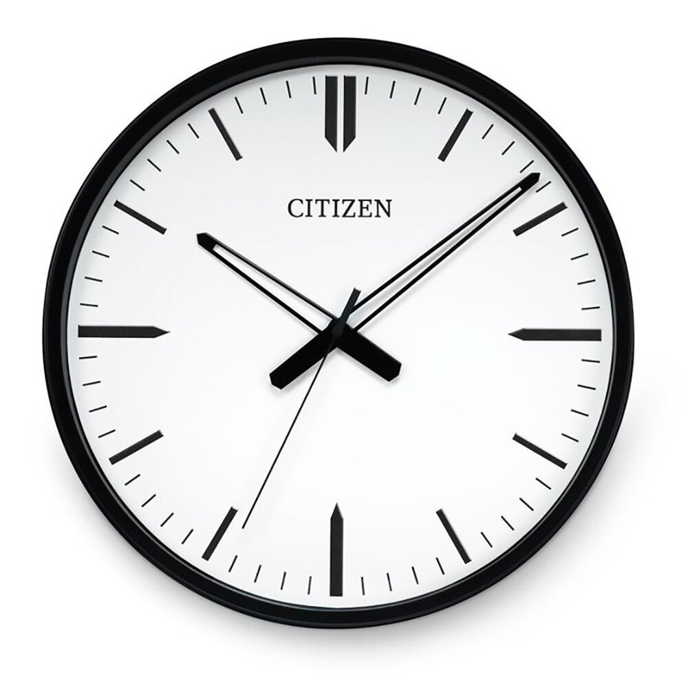 Black/White Dial/Black Accent Indoor Clock