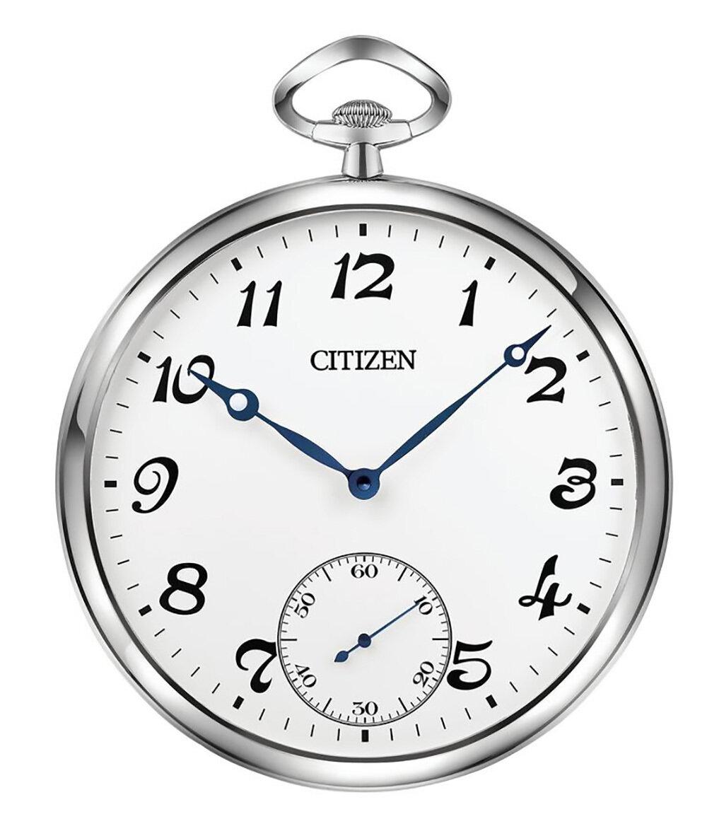 Silver, White & Metallic Blue Hands Indoor Clock