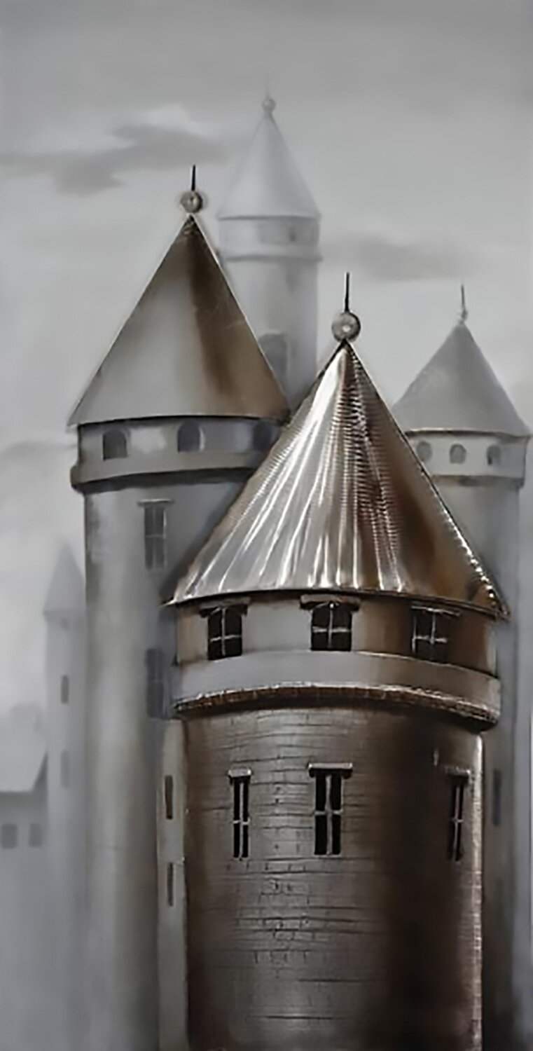 Town Of Turrets Painting
