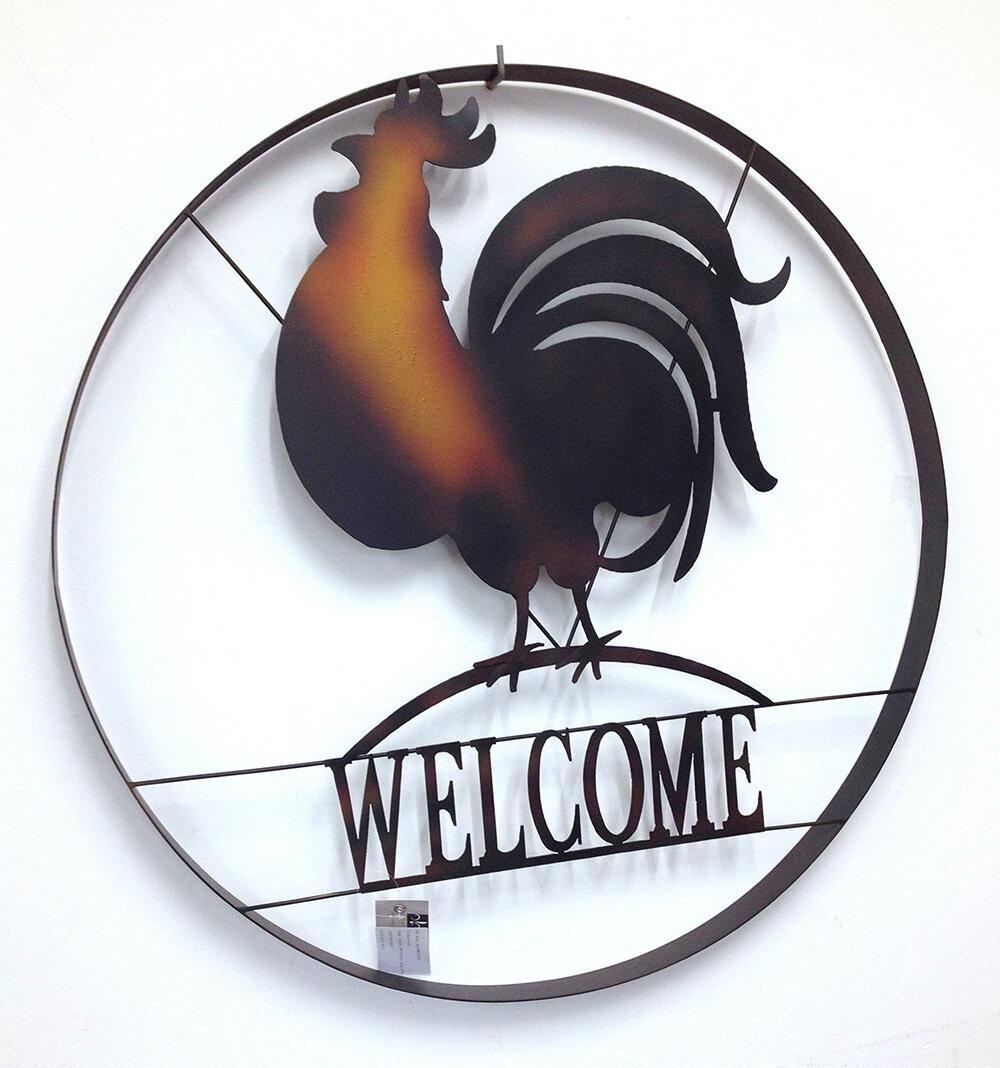 Rooster Welcome Deco Wheel Art