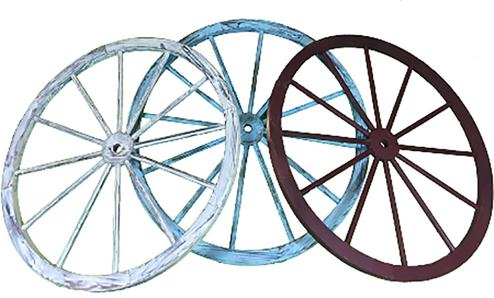 Colored Wooden Wagon Wheel