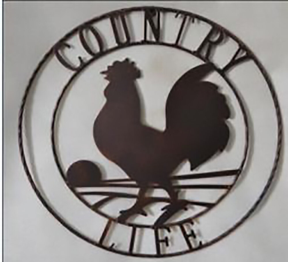 Country Life Rooster Wall Hanging