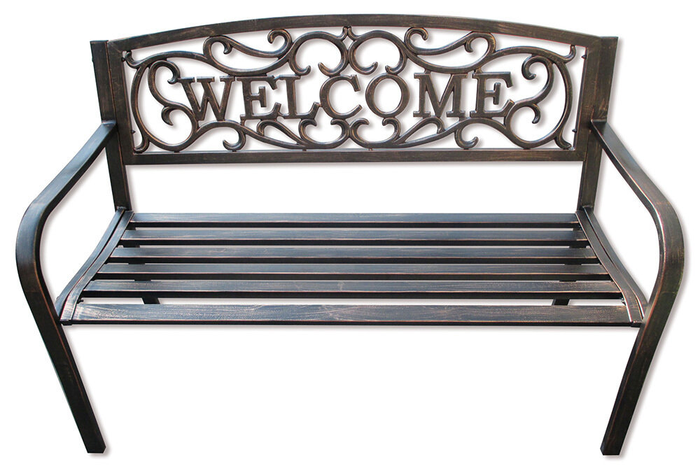 Bronze Welcome Garden Bench