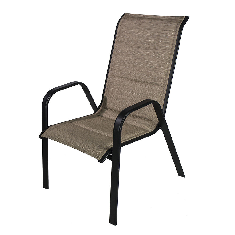 Oversized Tan Padded Sling Chair