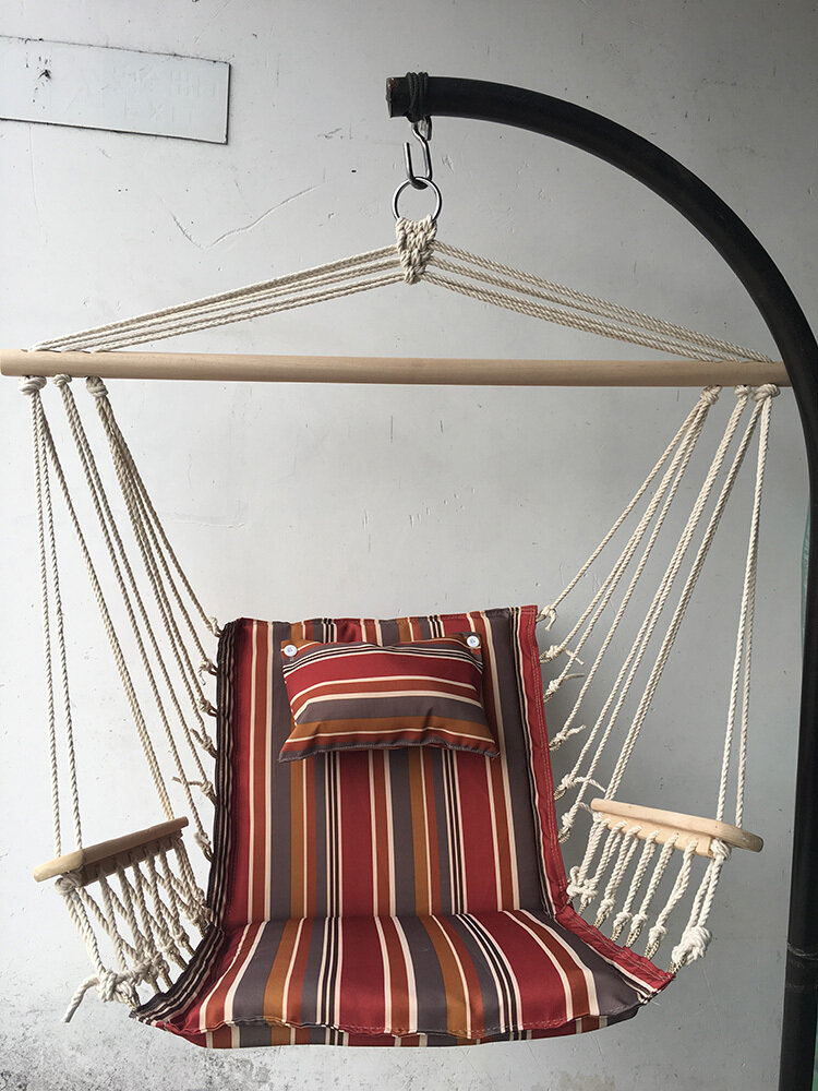 Hanging Chair w/Pillows & Arms (FRAME SOLD SEPARATELY)