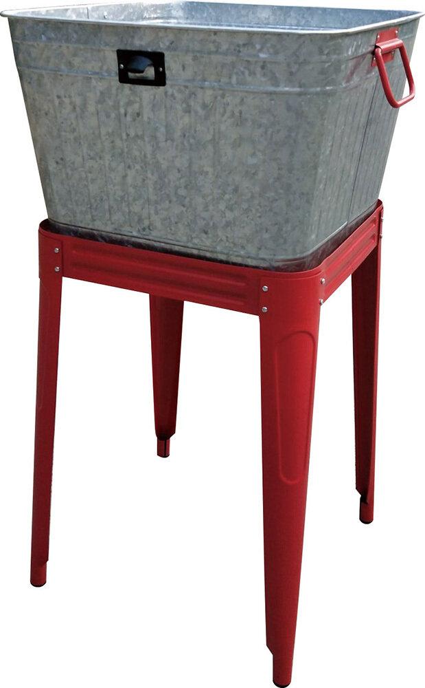 Metal Washtub Beverage Stand