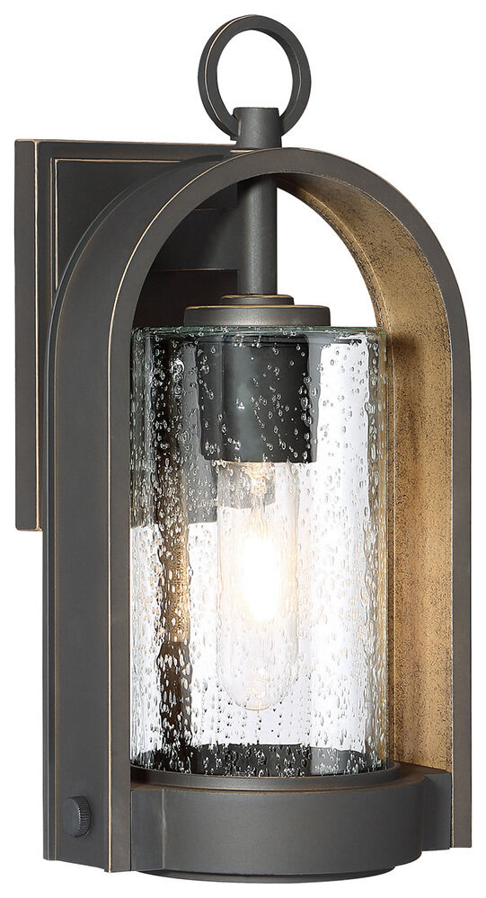 Kamstra Small Oil Rub Bronze w/Gold Exterior 1 Lt Wall Mount